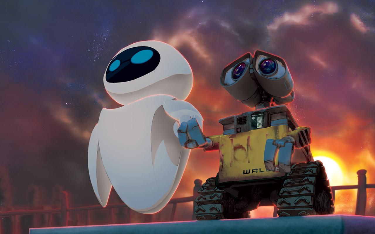 Um Wall-E E Uma EVE Em Tamanho Real Com Controle Remoto